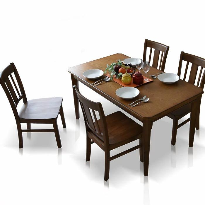 【送料無料】ダイニングテーブルセット 140cm ダイニングセット ダイニング5点セット 4人掛け ダイニングチェア ダイニングテーブル 食卓 食卓セット テーブル チェア 椅子 イス シンプル レトロテイスト 板座面 PVC座面