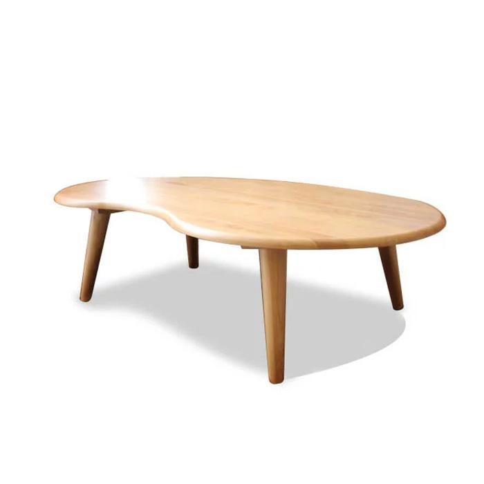 【送料無料】センターテーブル 幅90cm 木製 アルダー 無垢 リビングテーブル 食卓 デザイナー オシャレ カフェ モダン ナチュラル 丸脚 テーブル 食卓テーブル