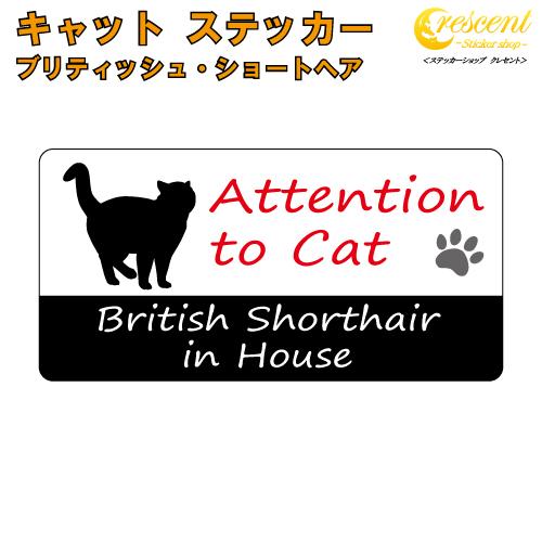家に猫がいます 苦手な方はご注意 ? ブリティッシュ ショートヘア イン ハウス ステッカー 猫 british 防犯 文字変更可 70%OFFアウトレット house cat シール in 本物 キャット shorthair