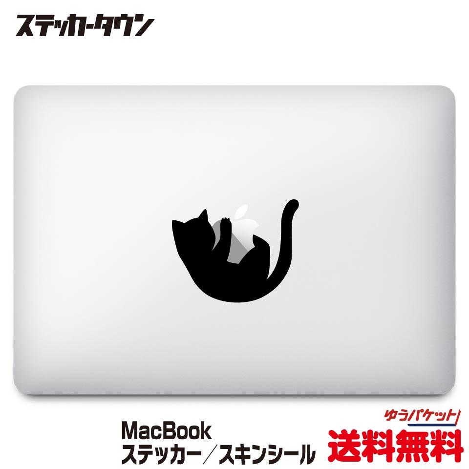 MacBookステッカー スキンシール 黒猫2