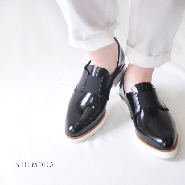 b309848e833 30 s-40 s fashion shoes women s patent leather shoes ladies large size  slip-on leather STILMODA 3109 still mod 0824 Rakuten card Division