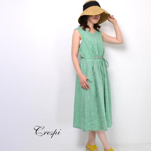 30代~40代 ファッション コーディネートCrespi クレスピ コンチネンタルリネンワンピースSF-6282104-142