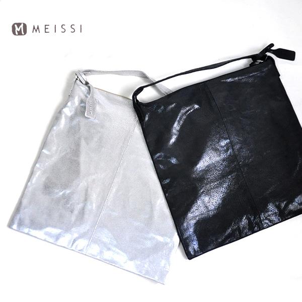 【再値下げ】【30%OFF SALE/セール】30代~40代ファッション【送料無料】ピッグスキン ラメワンショルダーバッグ バッグ レディース 鞄 カバン 大容量 レザー きれいめ Meissi LKPM1018 メイッシカード分割