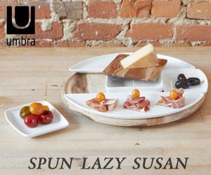 【UMBRA/アンブラ】SPUN LAZY SUSAN(スパンレイジースーザン)/テーブルコーディネート/ディッシュプレート