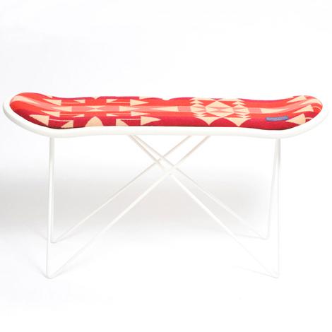 【送料無料】【正規取扱店】【PENDLETON × MADE BY SEVEN -REUSE-】 SKATE DECK STOOL・Big Thunder Scarlet Pink