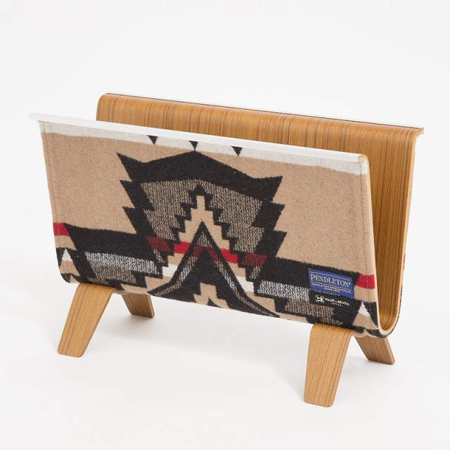 【PENDLETON x MADE BY SEVEN -REUSE-】PLYWOOD MAGAZINE RACK・OVER ALL BEIGE
