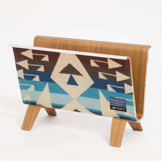 【PENDLETON x MADE BY SEVEN -REUSE-】PLYWOOD MAGAZINE RACK BIG THUNDER SCARLET