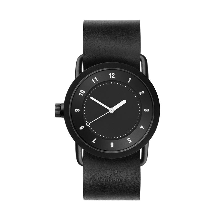 【TID Watches】ティッドウォッチ 36m ブラックフェイス×ブラックレザー 腕時計 No.1 BLACK TID01-36BK