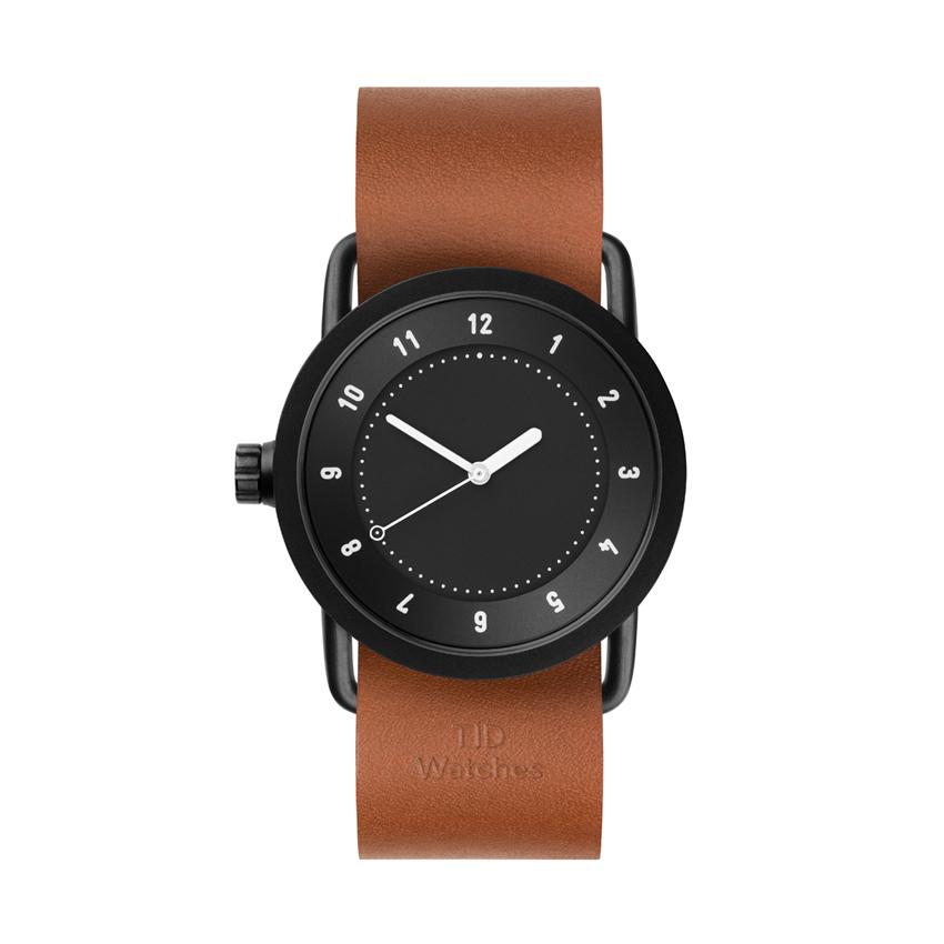 【TID Watches】ティッドウォッチ 36mm ブラックフェイス×タンレザー 腕時計 No.1 BLACK TID01-36BK