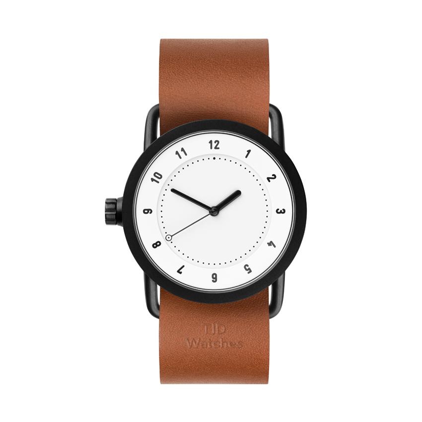 【TID Watches】ティッドウォッチ 36mm ホワイトフェイス×タンレザー 腕時計 No.1 WHITE TID01-36WH