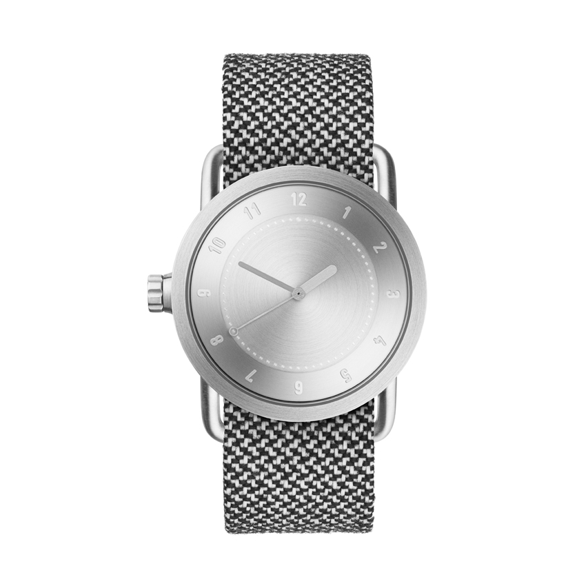 【TID Watches】ティッドウォッチ 36mm シルバーフェイス×再生繊維バンド 腕時計 No.1 SILVER TID01-36SV kvadrat Twain Granite