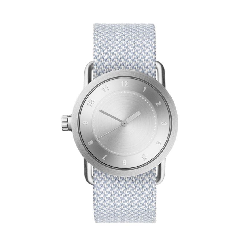 【TID Watches】ティッドウォッチ 36mm シルバーフェイス×再生繊維バンド 腕時計 No.1 SILVER TID01-36SV kvadrat Twain Mineral