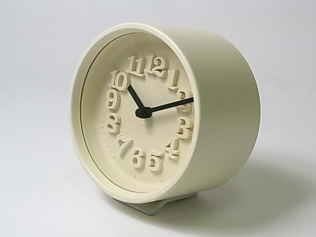 【渡辺 力】 小さな時計・アイボリー
