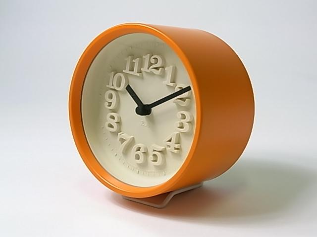 【渡辺 力】 小さな時計・オレンジ