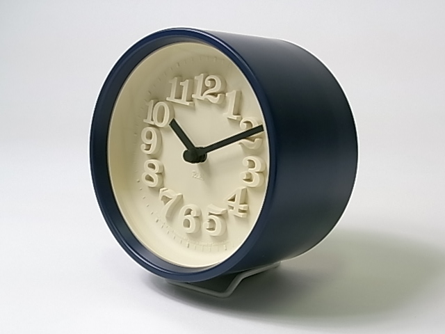 【渡辺 力】 小さな時計・ネイビー