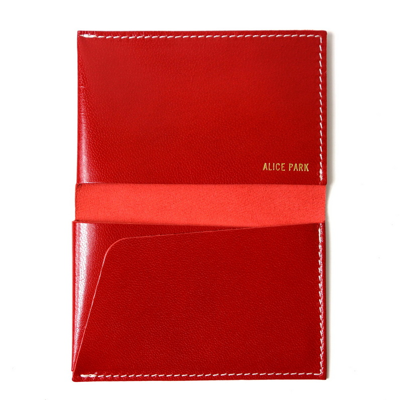 Alice Park folding card case red