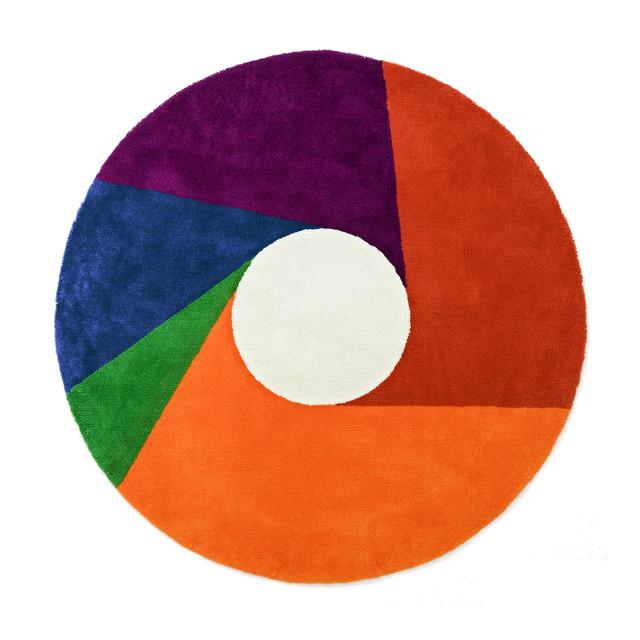 【送料無料】MAX BILL RUG [Color Wheel] φ1600mm【マックス ビル ラグ マット リビングサイズ】