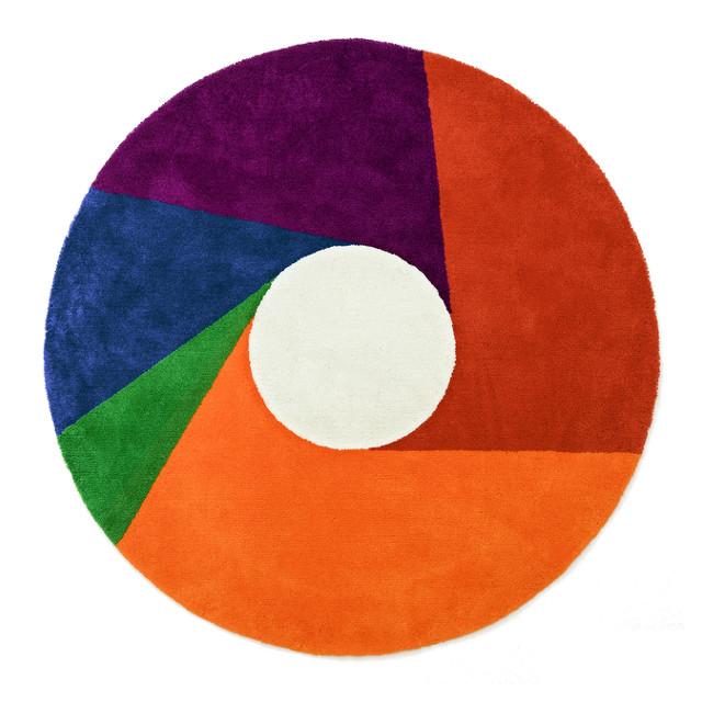 【送料無料】MAX BILL RUG [Color Wheel] φ1800mm【マックス ビル ラグ マット リビングサイズ】