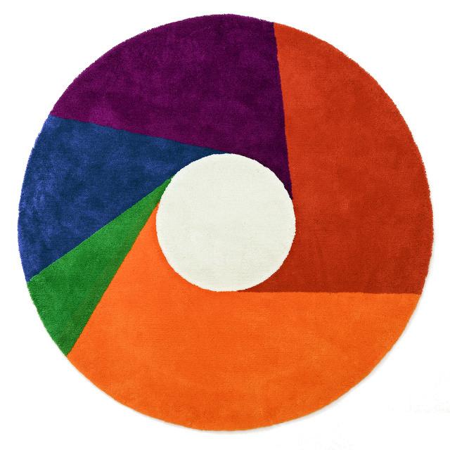 【送料無料】MAX BILL RUG [Color Wheel] φ2000mm【マックス ビル ラグ マット リビングサイズ】