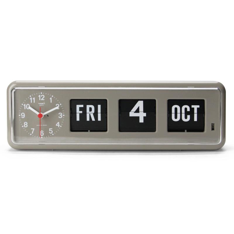 【送料無料】【Twemco】Calendar Clock #BQ-38【トゥエンコ カレンダークロック パタパタ時計】