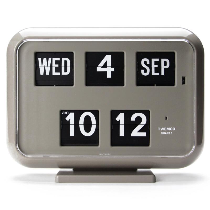【送料無料】【Twemco】Digital Calendar Clock #QD-35【トゥエンコ カレンダークロック パタパタ時計】