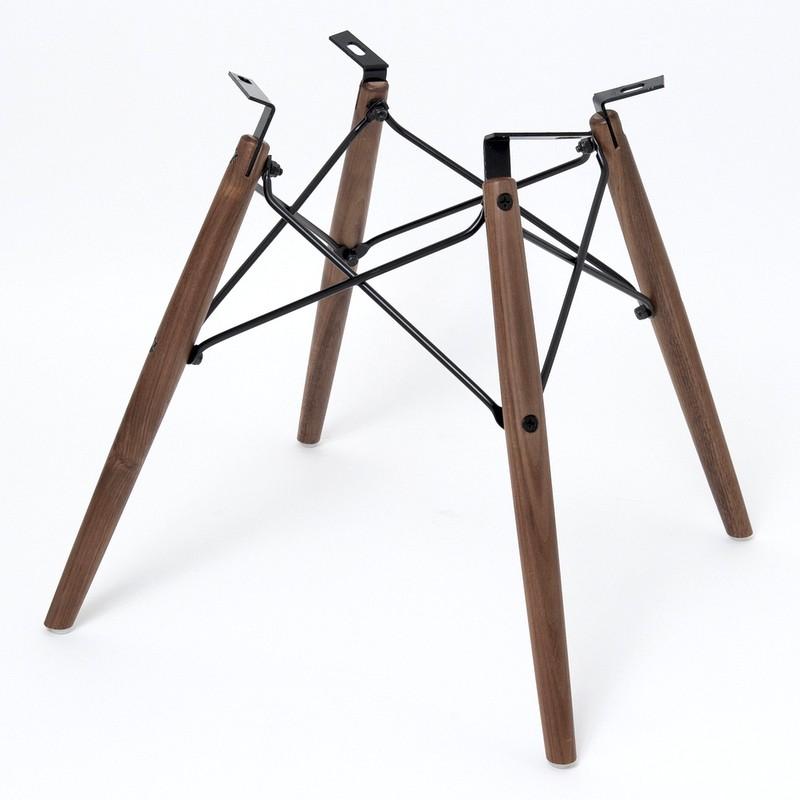 ワイドマウント用ドーウェルベース Dowel Base Wide mount Walnut/Black Replica for Eames Shell Chair