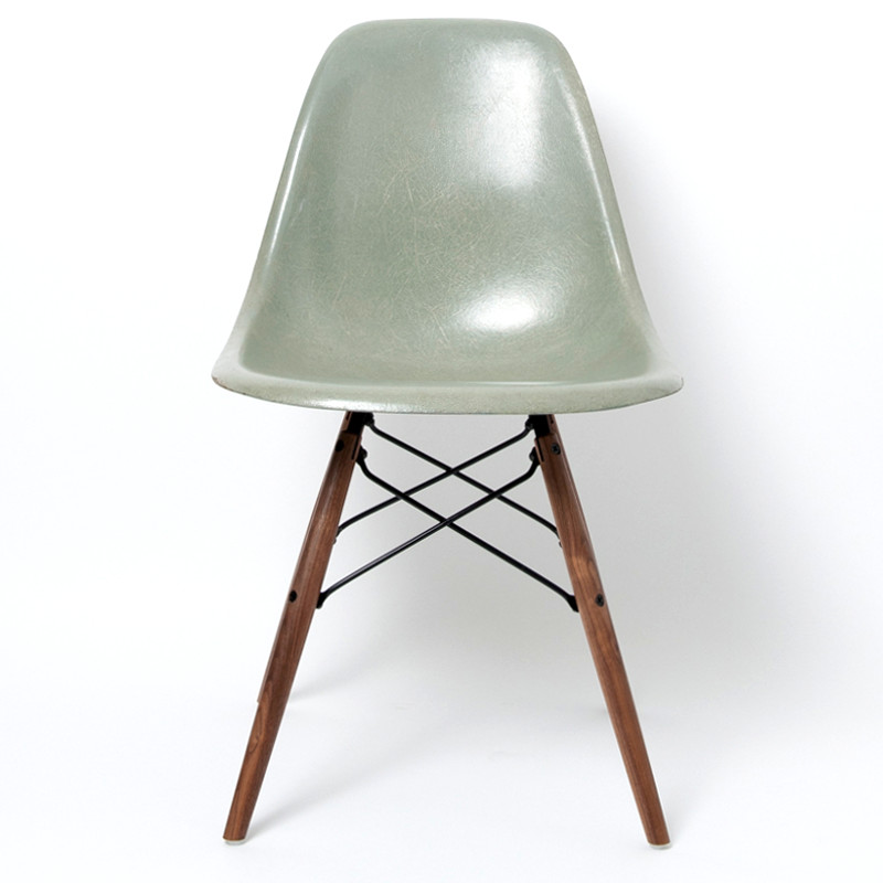 Dowel Base Walnut/Black (Replica) For Eames Shell Chair Made In USA
