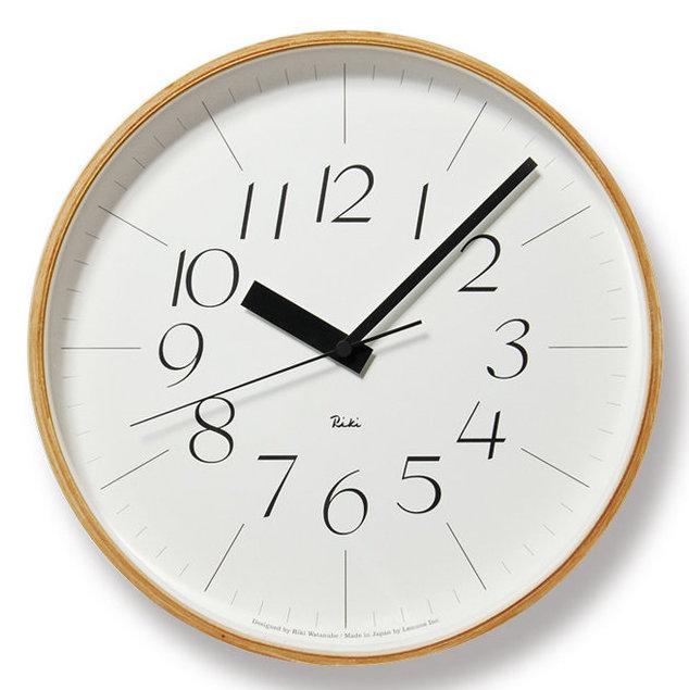 【渡辺力/Riki Watanabe】 RIKI Clock・RC 電波時計・サイズL【リキクロック WR08-26 壁掛け時計 プライウッド Made in Japan】