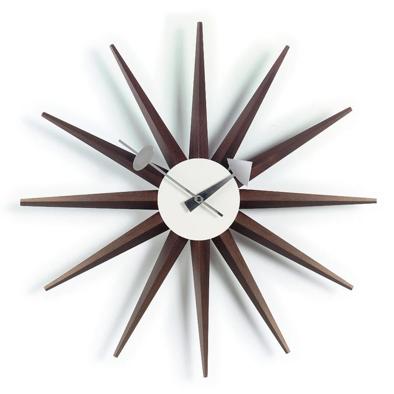 【正規取扱店】Vitra/ヴィトラ Sunburst Clock・サンバーストクロック・ブラウン