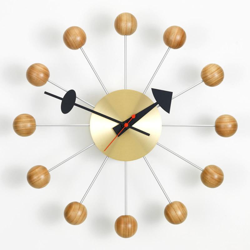 【正規取扱店】Vitra/ヴィトラ Ball Clock・ボールクロック・チェリー材・真鍮ボディ