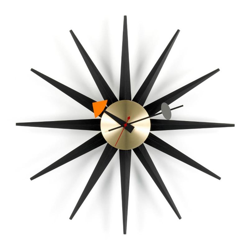 【正規取扱店】Vitra/ヴィトラ Sunburst Clock・サンバーストクロック・ブラック・真鍮ボディ