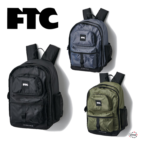 送料無料 リップストップナイロンと600デニールナイロンを使用したバックパック FTC エフティーシー BACKPACK FTC021AWA01 バックパック リュック かばん バッグ 21FW カジュアル メンズ レディース 容量25L 正規販売店