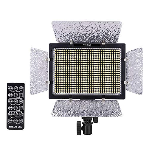 Yongnuo YN-600 LEDビデオライト 600球のLEDを搭載 5500Kのみ カメラビデオカメラ用 日本正規代理店品 5☆好評 AC電源アダプター付きYN-600
