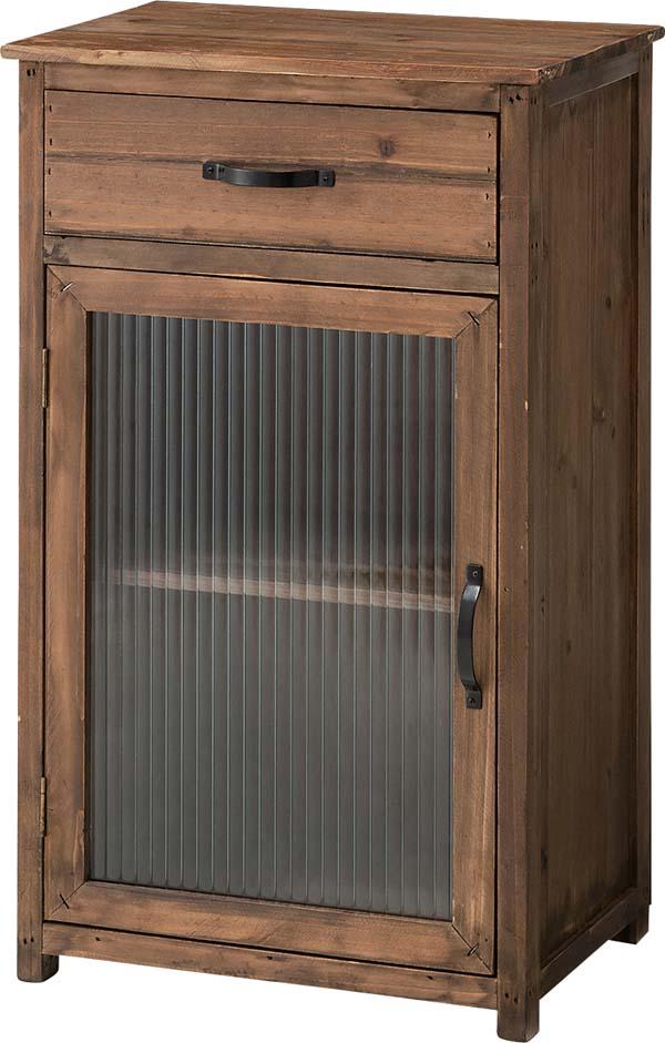 【東谷】ガラスキャビネット 収納棚 CCR-108 木製/アンティーク風/キッチン収納/おしゃれ/かわいい【東谷商品以外と同梱不可】