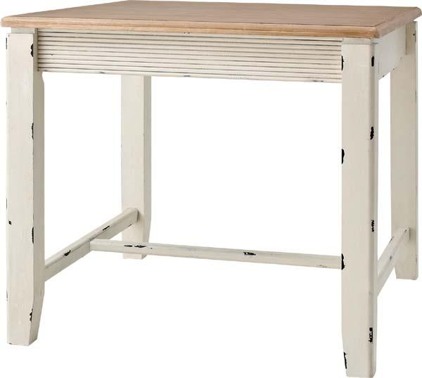 【東谷】ブロッサム ダイニングテーブル 食卓テーブル COL-018 アンティーク風/おしゃれ/かわいい【東谷商品以外と同梱不可】