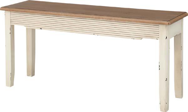 【東谷】ブロッサム ベンチ 椅子 ダイニングチェア COL-027 アンティーク風/おしゃれ/かわいい【東谷商品以外と同梱不可】