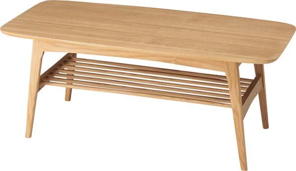 【東谷 AZUMAYA】センターテーブル リビングテーブル 木製 HOT-534NA 北欧風/おしゃれ/かわいい【東谷商品以外と同梱不可】