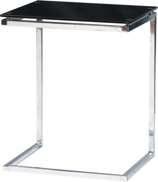 【東谷】強化ガラス サイドテーブル PT-15BK シンプル/ガラステーブル/パソコンデスク/おしゃれ【東谷商品以外と同梱不可】