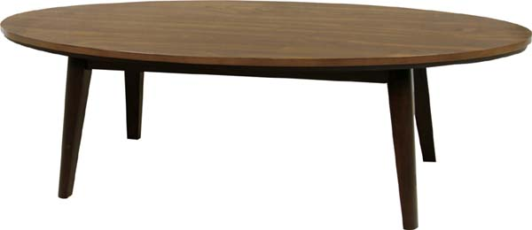 【東谷】オーバルこたつ コタツ/炬燵 楕円形 おしゃれ リンド120WAL 120×60cm こたつテーブル【東谷商品以外と同梱不可】