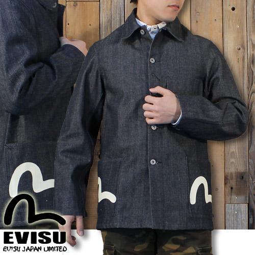 エヴィスジーンズ EVISU Lot.1951 デニム カバーオール 白カモメ EOCS-19001