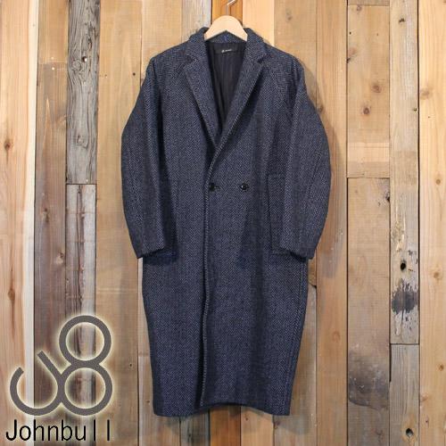 ジョンブル Johnbull レディース オーバーサイズ ツイード ロング ジャケット コート AH971