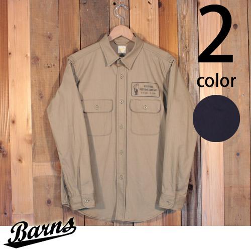 バーンズ Barns チノ ワーク シャツ ジャケット BR-7314