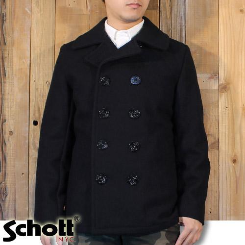ショット Schott 日本別注 アメリカ製 24oz スリムフィット ピーコート Pコート 7118 753US