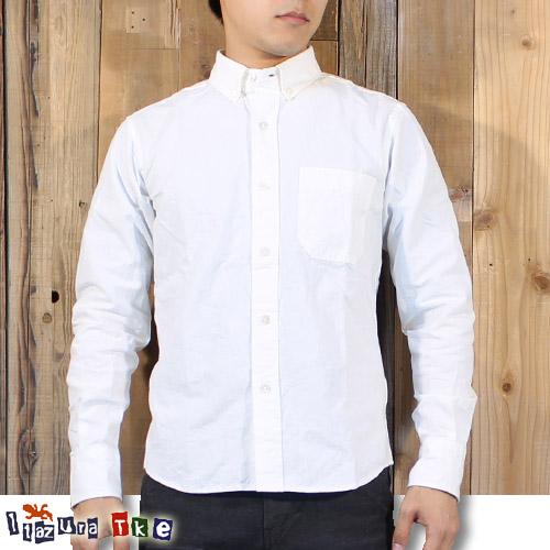 イタズラトカゲ Itazura Tokage 長袖 コットン ボタンダウン シャツ F16001