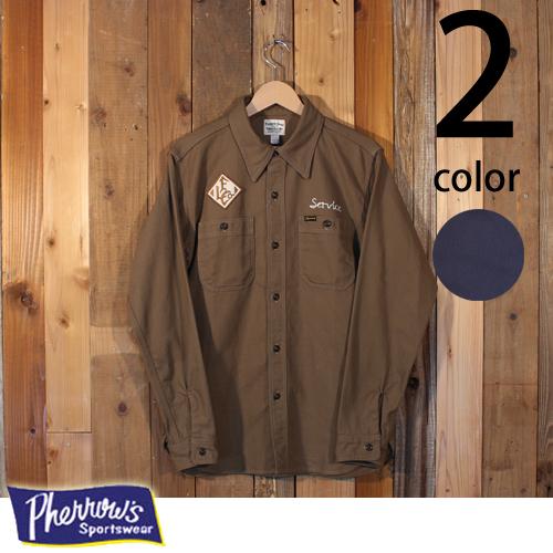 フェローズ Pherrow's FOSTER カスタム ワークシャツ ヘリンボーン 18W-721WS-C