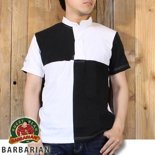 バーバリアン BARBARIAN Stockman Market 2016 別注 半袖 ラガーシャツ GCBRQ