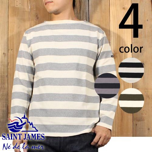 セントジェームス SAINT JAMES ウエッソン ワイド ボーダー バスク シャツ 長袖 Tシャツ 14JC OUES GDR/1R