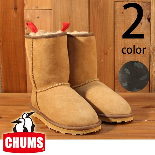 チャムス CHUMS ブービー マウンテン ブーツ ボア付き レザー ミドル丈 ムートン CH63-1009