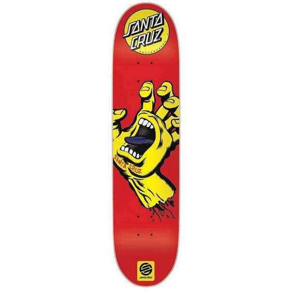 スケボーデッキ SANTZCRUZ サンタクルーズ スクリーミングハンド RED YELLOW 7.6x31.5インチ (デッキテープ サービス) スケートボード 単品【s9】