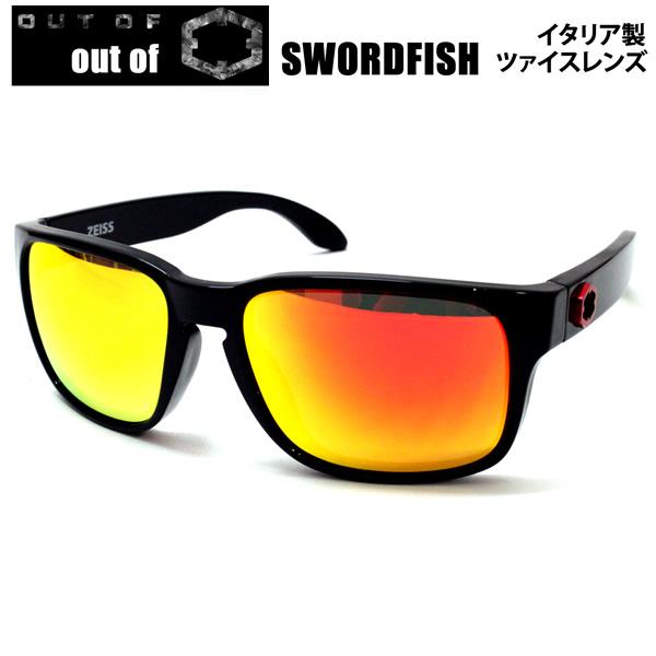 OUT OF サングラス SWORDFISH ソードフィッシュ GLOSSY BLACK RED /RED MCI レンズ 8S010506 アウトオブ  【コンパクト便可能】【s2】